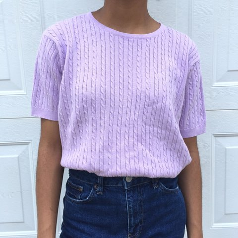 8dd51592dc Vintage short sleeve lavender sweater