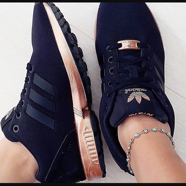 Adidas ZX flux black and rose gold. Size...