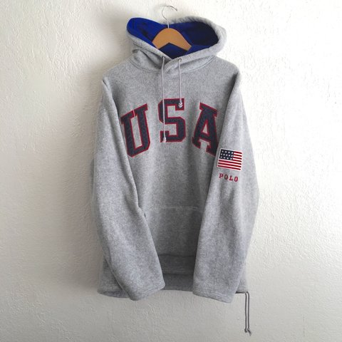bc60ced40 🇺🇸 Men s Vintage USA Polo Sport Hoodie by Ralph Lauren