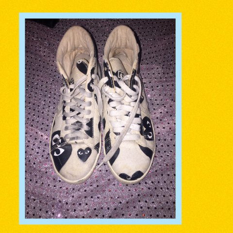 Comme des garçons play x converse pro leather sneakers and  aba0d49d6