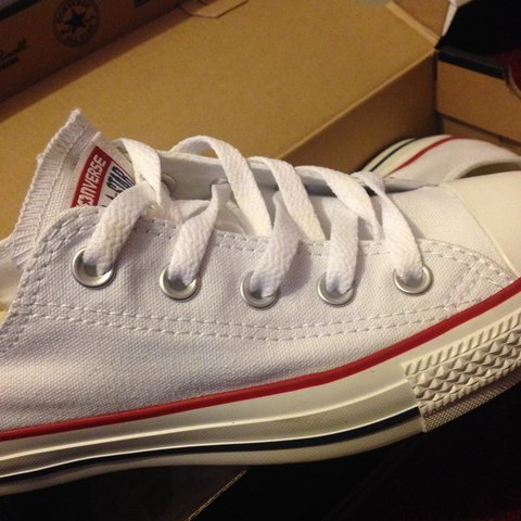 a3b9f3ad26ce40 Brand new pair of white converse ! never worn !! Condition 6 - Depop