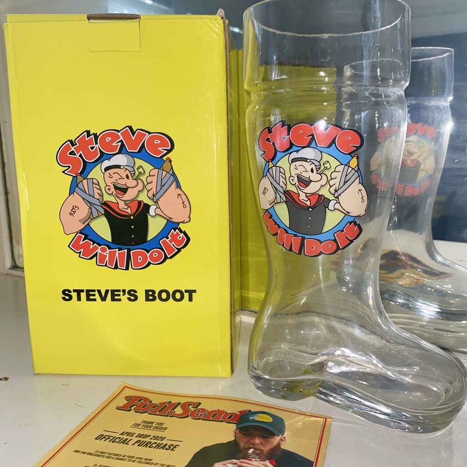 Stevewilldoit Boot 420 Drop Full Send By Nelk Depop Stevewilldoit quickly grew in popularity as videos of him doing extreme eating and drinking challenges spread across instagram and worldstarhiphop. stevewilldoit boot 420 drop full send