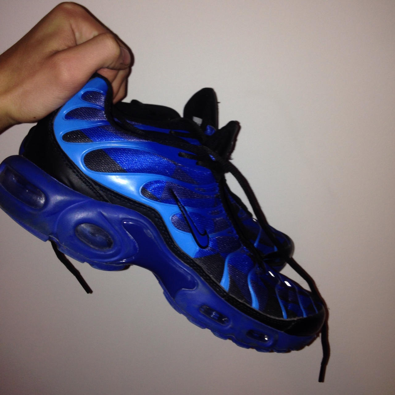 new style 3b4ec 98bcd nike tn ice pack blue/black/dark blue; extremely... - Depop