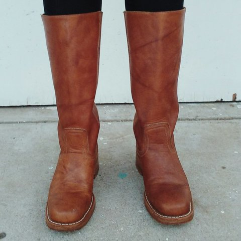 c322d7d0b @ilive. 4 years ago. California, USA. Frye leather boots in saddle brown.