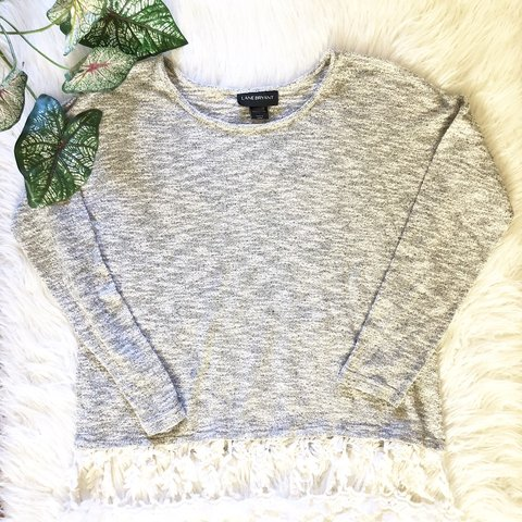 182c0087581b Sexy Lane Bryant Lace Fall sweater Top Sexy Lane Bryant for - Depop