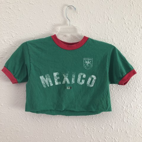 Mexico Green Red Futbol Soccer Crop Top I Cropped This Is A Depop