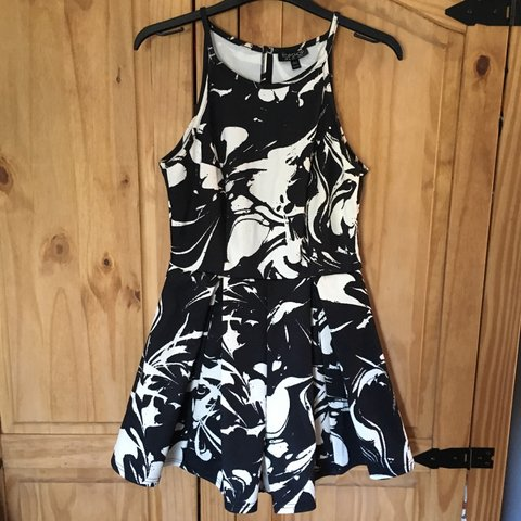7776833c6a4 Really cute black and white playsuit from topshop! Worn once - Depop