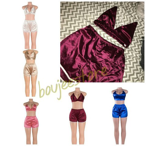 SALE ON EVERYTHING!! ✨Silky Satin two piece sets 💖 pink 248a893dc