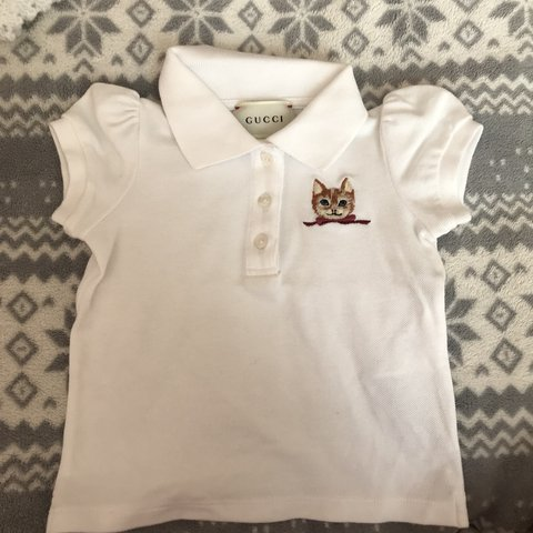 1af38047999 @suzxxx. last month. Feltham, United Kingdom. EXTREMELY RELUCTANT TO SELL! GUCCI  BABY GIRL BOY UNISEX POLO SHIRT