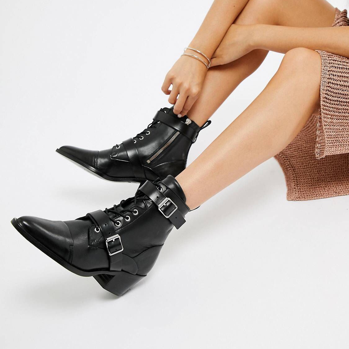 All Saints Lucie buckle boot Size 7