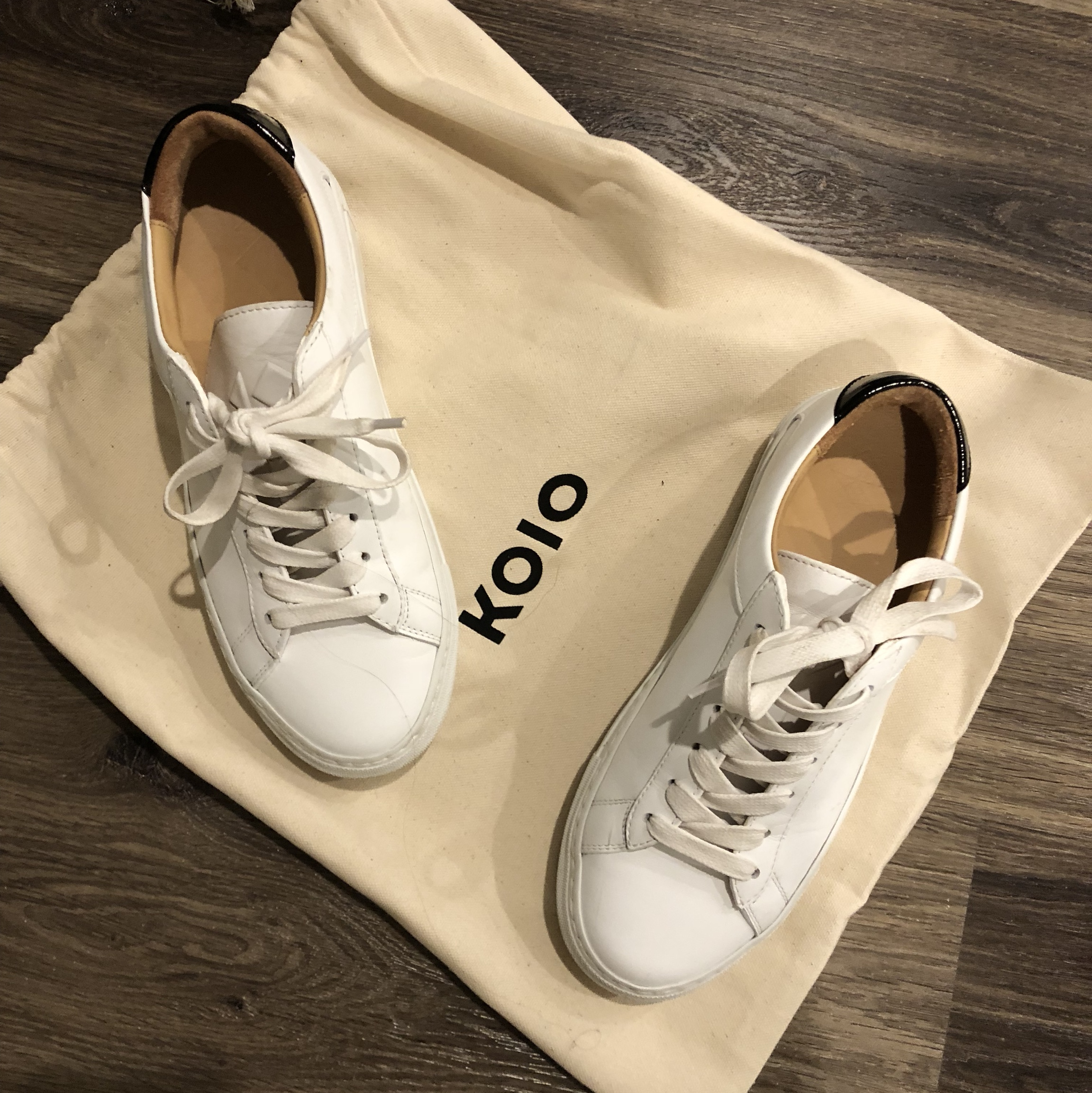 Koio platform sneakers worn once! Size