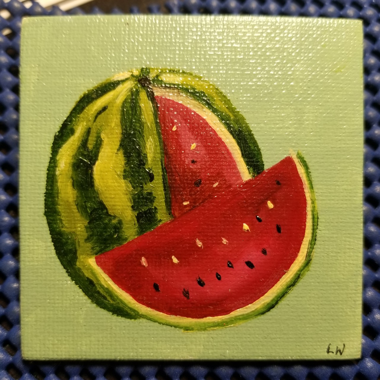 Watermelon Hand Painted Magnet
