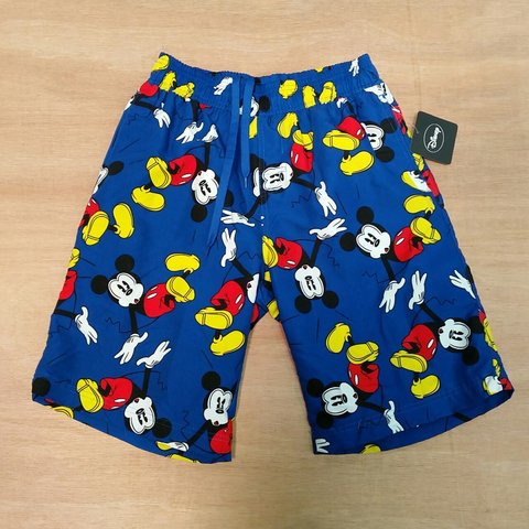 a52f855c91 @lockdownvintage. 4 years ago. Lincolnshire NG34, UK. Deadstock Vtg Disney  mickey mouse mens swimming shorts