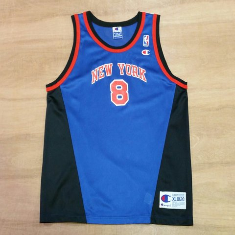 Vintage Champion New York Knicks Latrell Sprewell NBA Jersey - Depop 5f7cadbaa