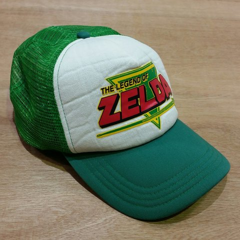 0ae9c92c56d0a Vintage the legend of zelda baseball trucker mesh cap Free - Depop