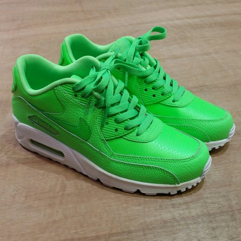 525215c8a6 @lockdownvintage. last year. Sleaford, Lincolnshire NG34, UK. Nike air max  90 green / white trainers. Size UK youth 6 ...