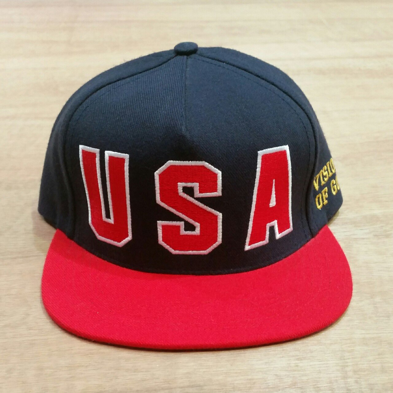 Supreme USA Vision of Gold snapback baseball cap   Condition - Depop 3c1176467e8