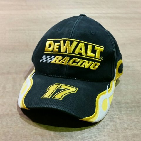 f74c01810359e Vintage Nascar Dewalt Racing baseball cap One size fits all - Depop