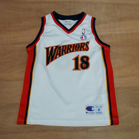 4bceb40d @lockdownvintage. last year. Sleaford NG34, UK. Vintage Golden State  Warriors Marco Belinelli NBA Basketball jersey by Champion