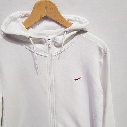 e9488dd765047 Womens Vintage Nike white zip up hoodie Size XL 22.5