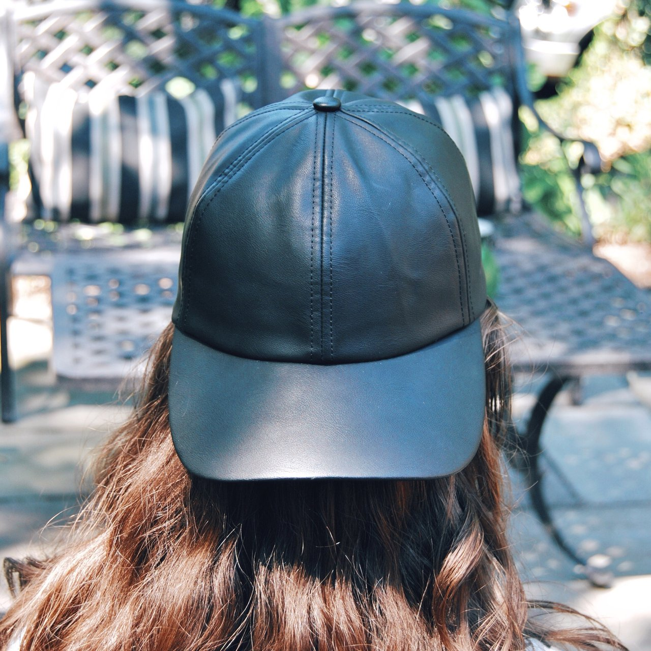 Aritzia Wilfred free faux leather baseball cap. Never worn - Depop 3e949c65c0f