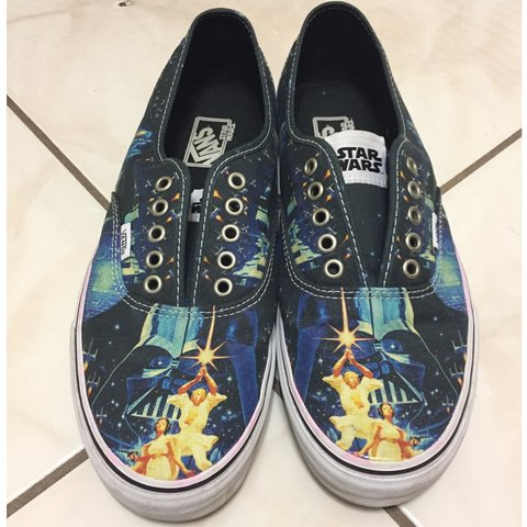 427c6b3294fb97 Star Wars edition Vans skate shoes☄️have been worn laces not - Depop