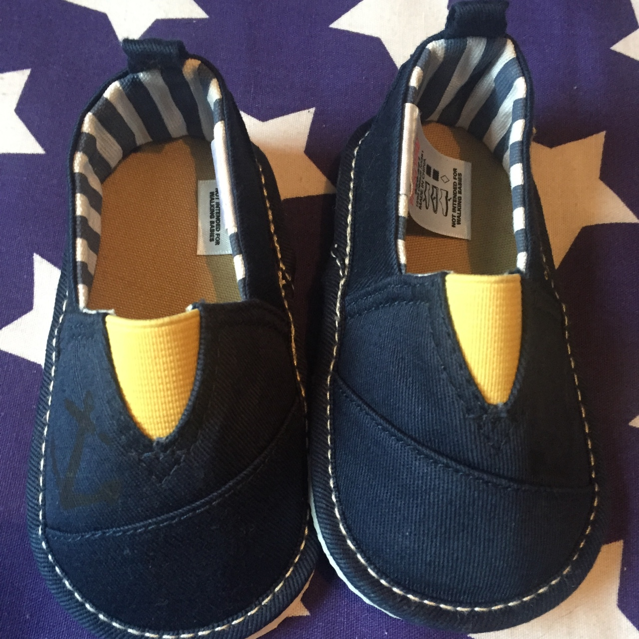Boys slip on navy shoes from next. Size