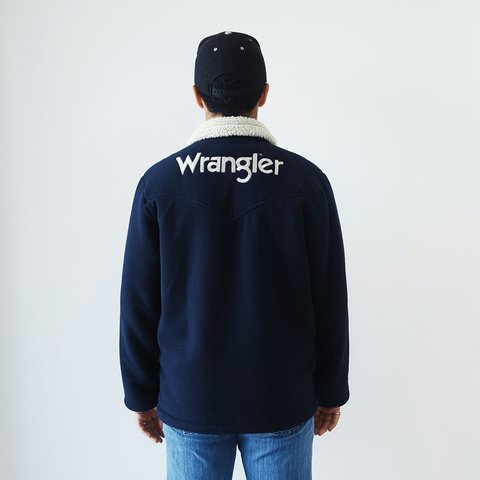 c8c77a92e @barevintage. 3 years ago. London, UK. Vintage Wrangler jacket. Men's size  S. Excellent condition, just a little surface fluff. Super warm!