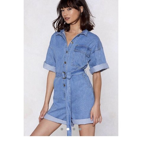 883bd71ff11 MESSAGE BEFORE BUYING Heavy denim boiler suit   playsuit   8 - Depop