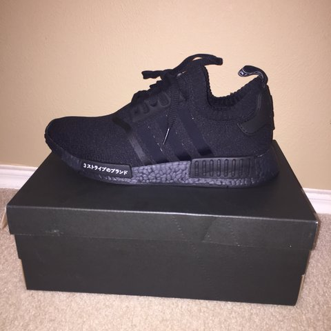 74f6e65e9e84c6 Adidas triple black Japan NMD deadstock with proof of for - Depop