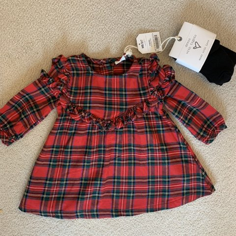 73ca73c3acf3 NEXT Baby girl tartan dress. Brand new with tags. Never AGE - Depop