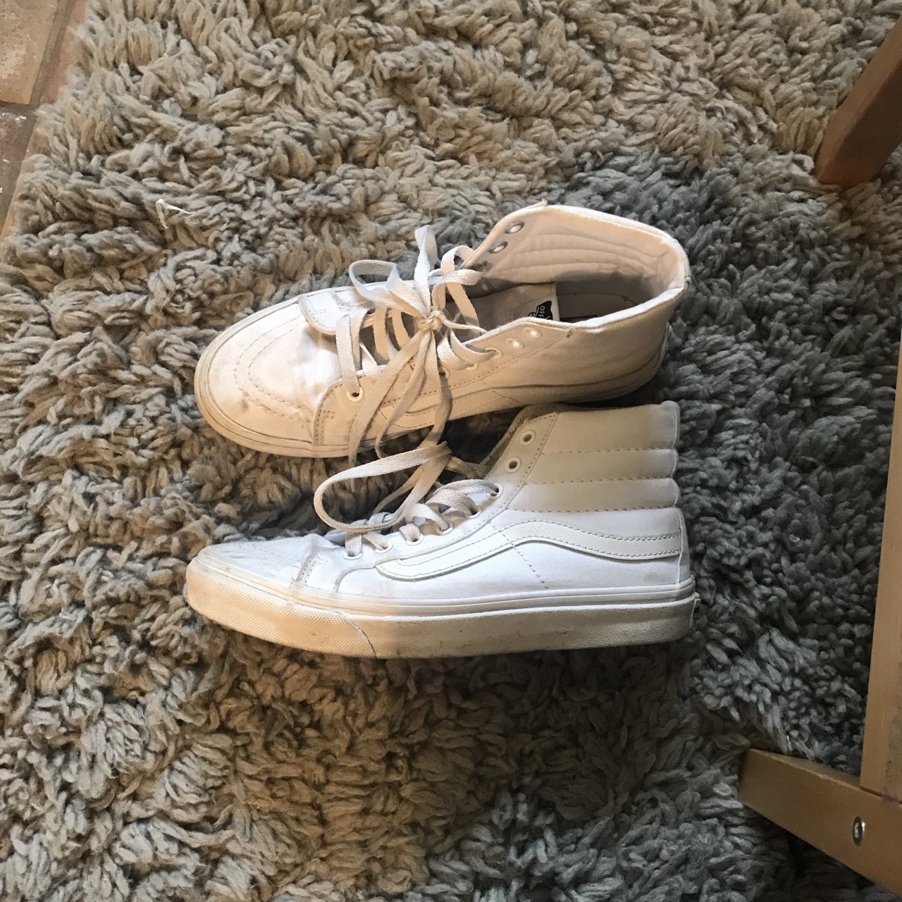 b3256e2cc2aefb VANS x ALYX authentic sneakers in white ! Rad red laces and - Depop