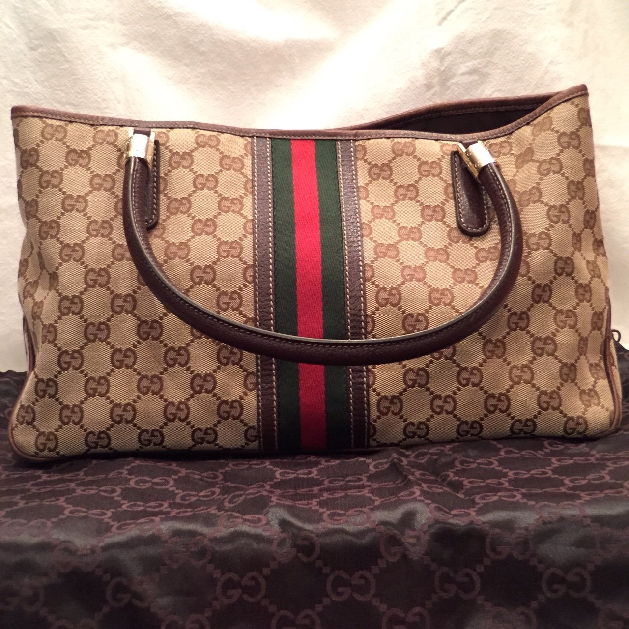 3721a437c55a Authentic Gucci tote. Purchased from Saks Fifth Avenue for a - Depop