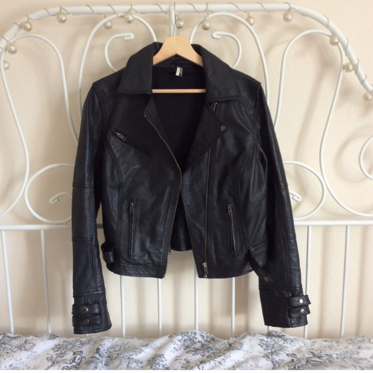 f8d85dba159 Topshop 100% real leather biker jacket RRP £165