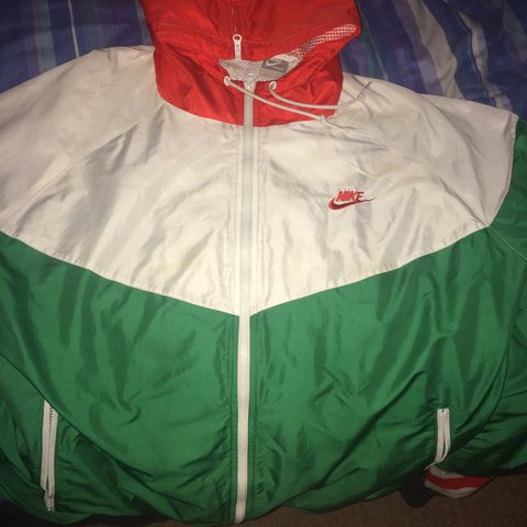 Nike jacket. Retro Nike running jacket and in red white and - Depop d17836f01