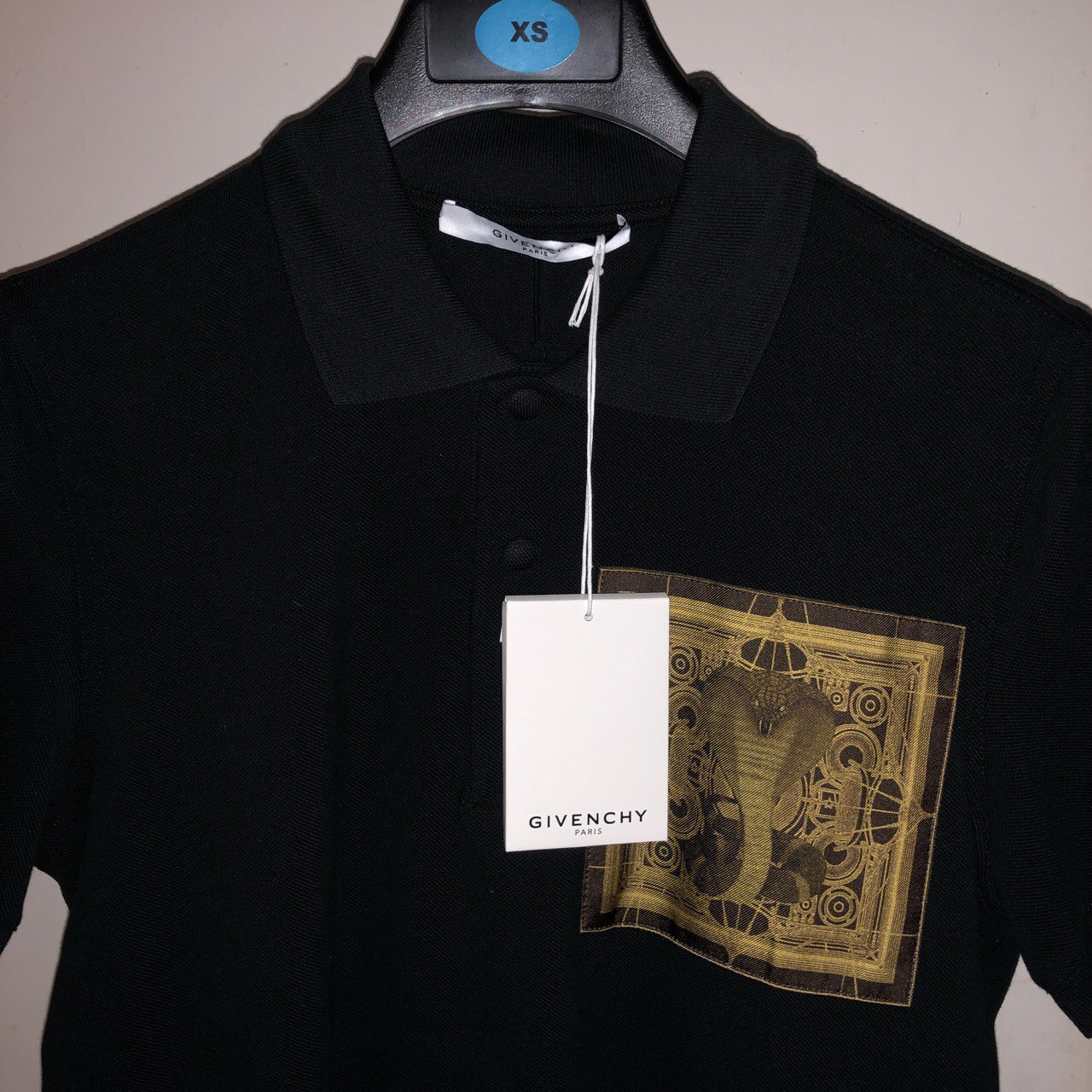 Selling Authentic Givenchy Snake Logo Polo Shirt In Black A Depop