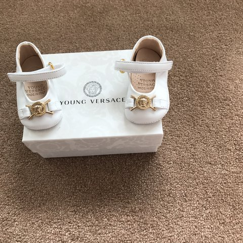 c0f2e2439a03 Young Versace shoes. Never been worn. 1size baby 16. - Depop