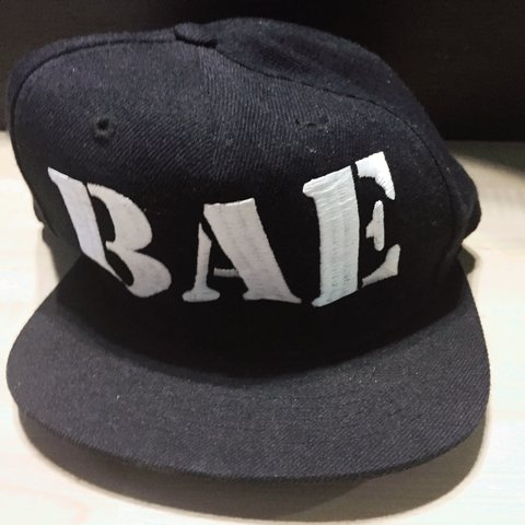 8cd21f983face Custom made SnapBack BAE hat at Lids. Worn once. Willing to - Depop