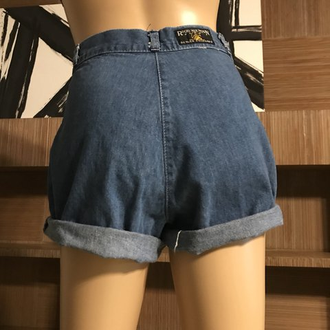 b37962a7e9 @sheenastiles. last year. Redding, United States. Vintage 70's ultra high  waisted Rocky Mountain jean shorts.