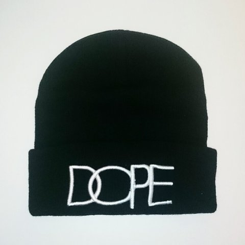 9908e6ef11441c Black DOPE beanie hat. Selling so cheap just because I want - Depop