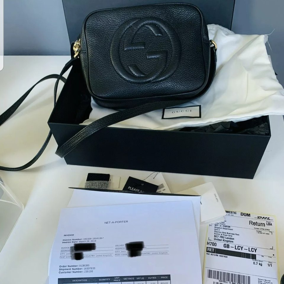 gucci disco soho black leather cross body bag bag depop depop