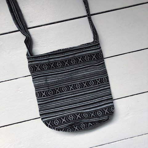 black and white ethnic print shoulder bag • tiny amount of • - Depop 8f0f3f10afa33