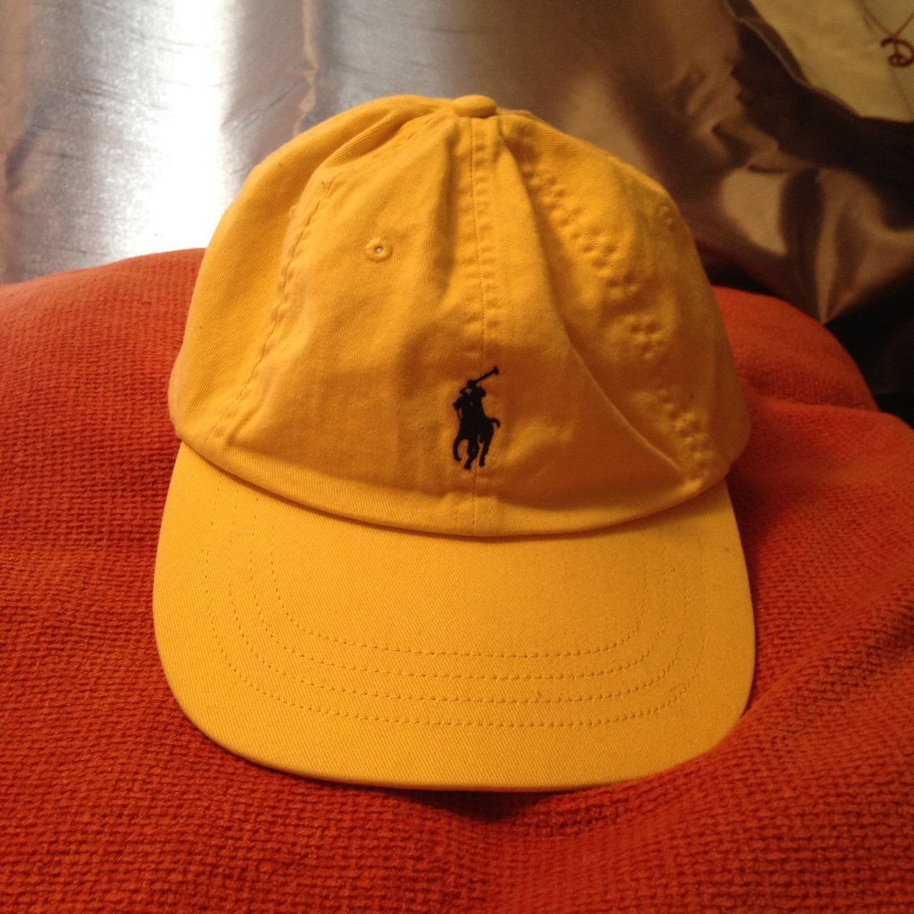 amazing yellow Ralph Lauren hat! bought awhile ago and only - Depop 551c9d60c80