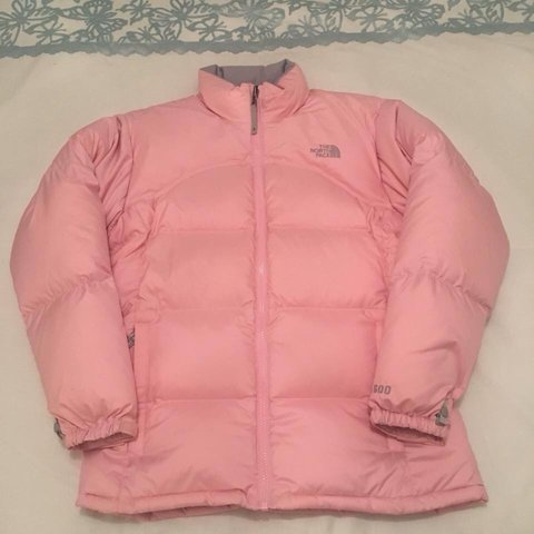 86788c3753 ... discount the north face authentic puffer jacket pale pink girls best  depop b1608 bc9ef