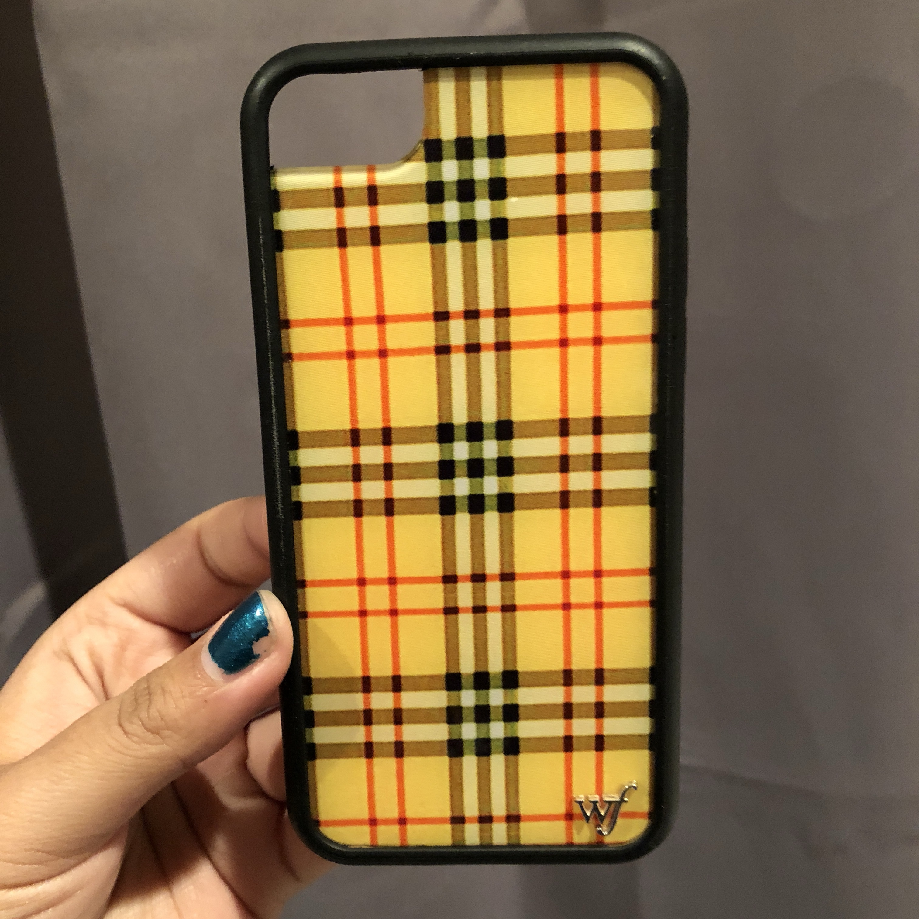 the best attitude 2eede 5ebe9 Yellow plaid iPhone 7 case by wildflower cases! Very... - Depop