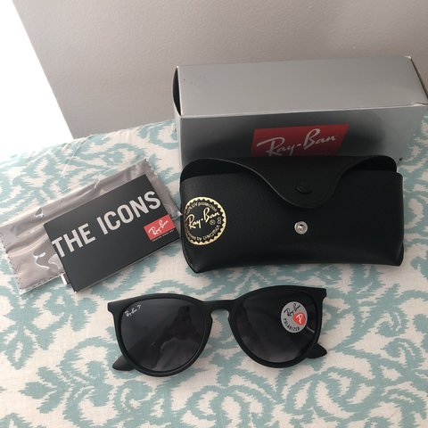 f88390caae Authentic Ray-ban Erika polarized matte black 🕶 Brand new - Depop