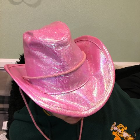 6db4b02d70d0a Yeehaw! The craziest pink metallic cowgirl hat! 🤠shines a - Depop