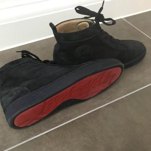 f6c8df890595 Blue suede louboutin men s size 41 in very good condition I - Depop
