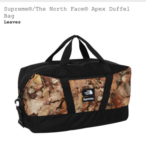 c513b7101c Supreme x The North Face apex duffel bag. Will ship on PM - Depop