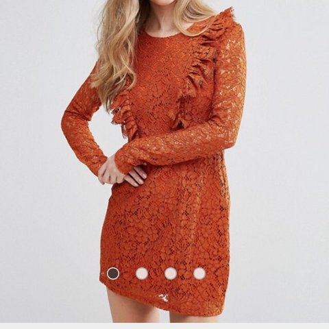 Asos burnt orange lace dress Size M Worn once Fits  zara - Depop f7222375d